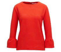 Strukturierter Regular-Fit Pullover aus Stretch-Gewebe