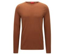 Slim Fit Pullover aus Baumwoll-Mix mit Seide und Kaschmir