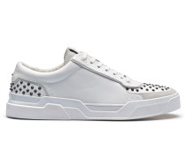 Sneakers aus Leder mit Nieten-Verzierungen