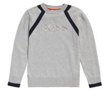 Kids-Pullover aus Baumwolle in Melange-Optik