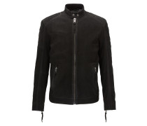 Slim-Fit Bikerjacke aus mattem Leder