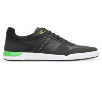 Sneakers aus Material-Mix mit Mesh