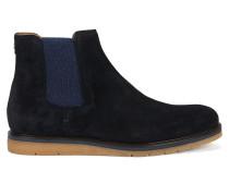 Chelsea Boots aus Veloursleder mit Keilsohle