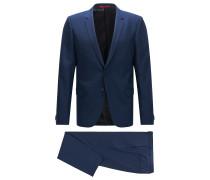 Extra Slim-Fit Anzug aus leicht strukturierter Schurwolle