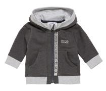 Kids-Jacke aus elastischem Baumwoll-Mix mit Kapuze