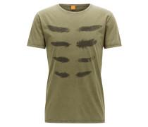 Regular-Fit T-Shirt aus Baumwolle im Used Look