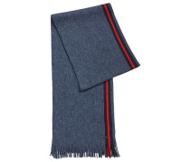 Mouliné-Schal aus Schurwolle mit Blockstreifen