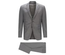 Slim-Fit Anzug aus italienischem Schurwoll-Mix mit Seide