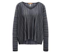 Relaxed-Fit Pullover aus strukturiertem Material-Mix mit Baumwolle und Seide