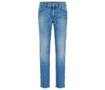 Slim-Fit Jeans aus gewaschenem Stretch-Denim