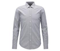 Slim-Fit Hemd aus strukturierter Stretch-Baumwolle