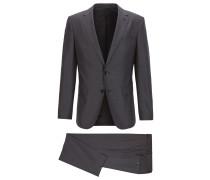 Dezent gemusterter Slim-Fit Anzug aus Schurwoll-Mix