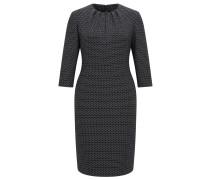 Bedrucktes Kleid aus elastischem Material-Mix