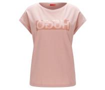 Relaxed-Fit T-Shirt aus Baumwolle mit spiegelverkehrtem Logo