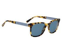 Sonnenbrille mit gemusterter Vollrandfassung