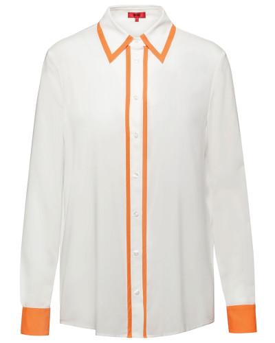 Regular-Fit Bluse mit Kontrast-Details