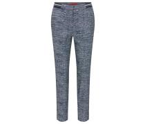 Slim-Fit Hose aus elastischem Tweed