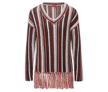 Gestreifter Oversized Pullover aus Baumwolle
