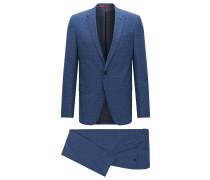 Strukturierter Slim-Fit Anzug aus Schurwolle