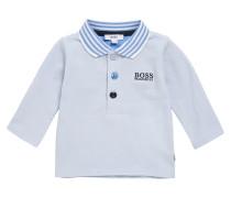 Baby-Poloshirt aus elastischer Baumwolle mit Kontrast-Streifen
