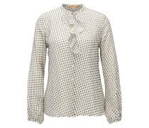 Regular-Fit Bluse aus Seiden-Mix