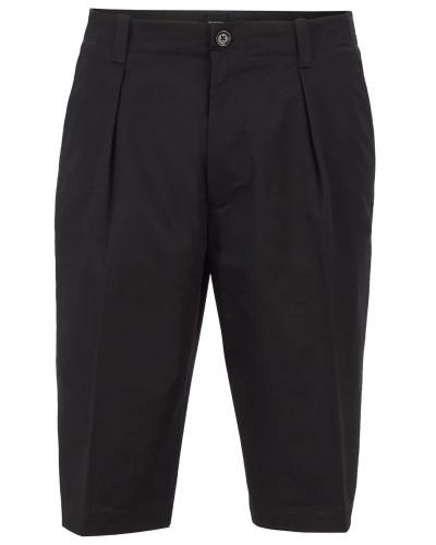 Relaxed-Fit Shorts aus hochgezwirnter elastischer Baumwoll-Gabardine
