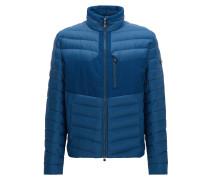 Regular-Fit Jacke aus wasserabweisendem Material-Mix