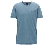 Regular-Fit T-Shirt aus garngefärbter Mouliné-Baumwolle