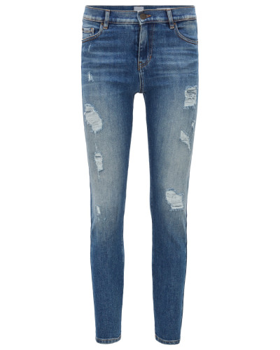 Slim-Fit Jeans aus komfortablem Stretch-Denim in Cropped-Länge