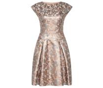 Kleid aus Baumwoll-Mix mit Metallic-Effekten
