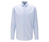 Kariertes Regular-Fit Hemd aus bügelfreiem Baumwoll-Twill