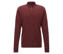 Regular-Fit Longsleeve Poloshirt aus Interlock-Baumwolle