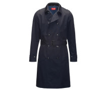 Regular-Fit Trenchcoat aus wasserabweisendem Material-Mix