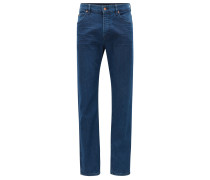 Relaxed-Fit Jeans aus gewaschenem Stretch-Denim
