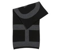 Gestrickter Jacquard-Schal aus Material-Mix mit Logo