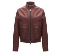 Regular-Fit-Jacke aus edlem Leder