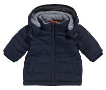 Baby-Jacke aus Material-Mix mit Kapuze und Fleece-Futter