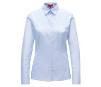 Slim-Fit Bluse aus Fil-à-Fil-Baumwolle