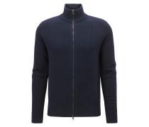 Regular-Fit Jacke aus Baumwoll-Mix mit Wolle