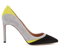 Pumps aus Veloursleder mit Colour Blocking