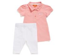 Baby-Poloshirt und Leggings aus Stretch-Baumwolle