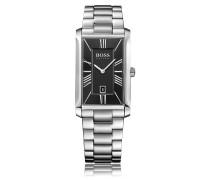 Zwei-Zeiger-Uhr mit Gliederarmband und Datumsanzeige