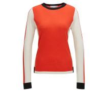 Colour Block Pullover aus Schurwolle