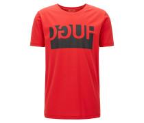 Exklusiv im Online-Shop: Regular-Fit T-Shirt aus Baumwolle