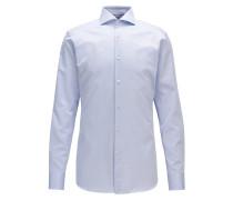 Slim-Fit Hemd aus strukturierter Baumwolle mit Perlmuttknöpfen