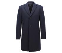 Regular-fit wool-blend coat with contrast undercollar