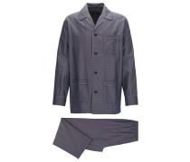 Pyjama aus leichtem Baumwoll-Jacquard