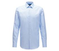 Slim-Fit Hemd aus strukturierter Baumwolle mit Fresh Active Finish