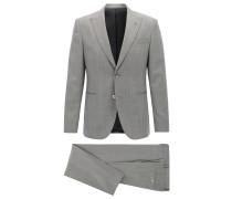 Fein gemusterter Slim-Fit Anzug aus Schurwolle