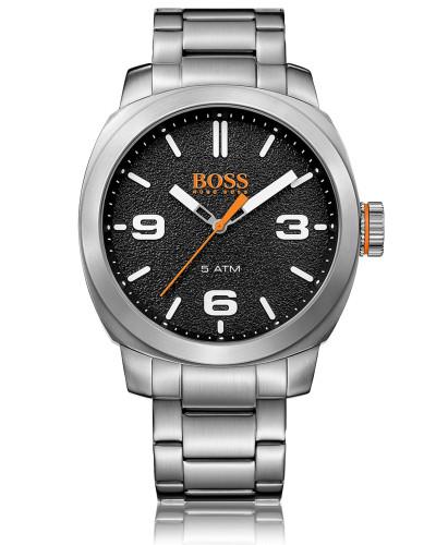Quartz-Uhr mit Gliederarmband aus Edelstahl